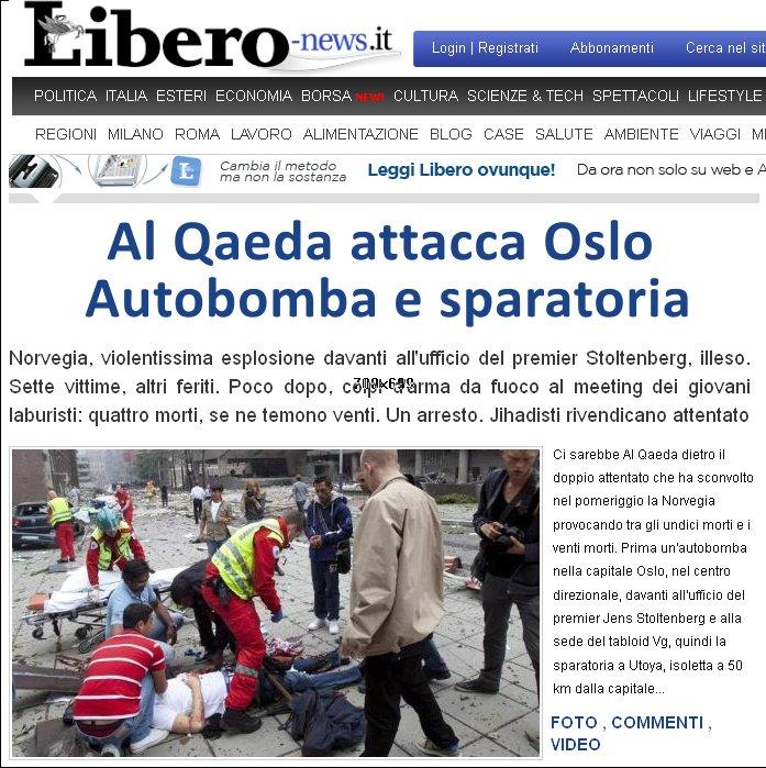Al Qaeda attacca Oslo